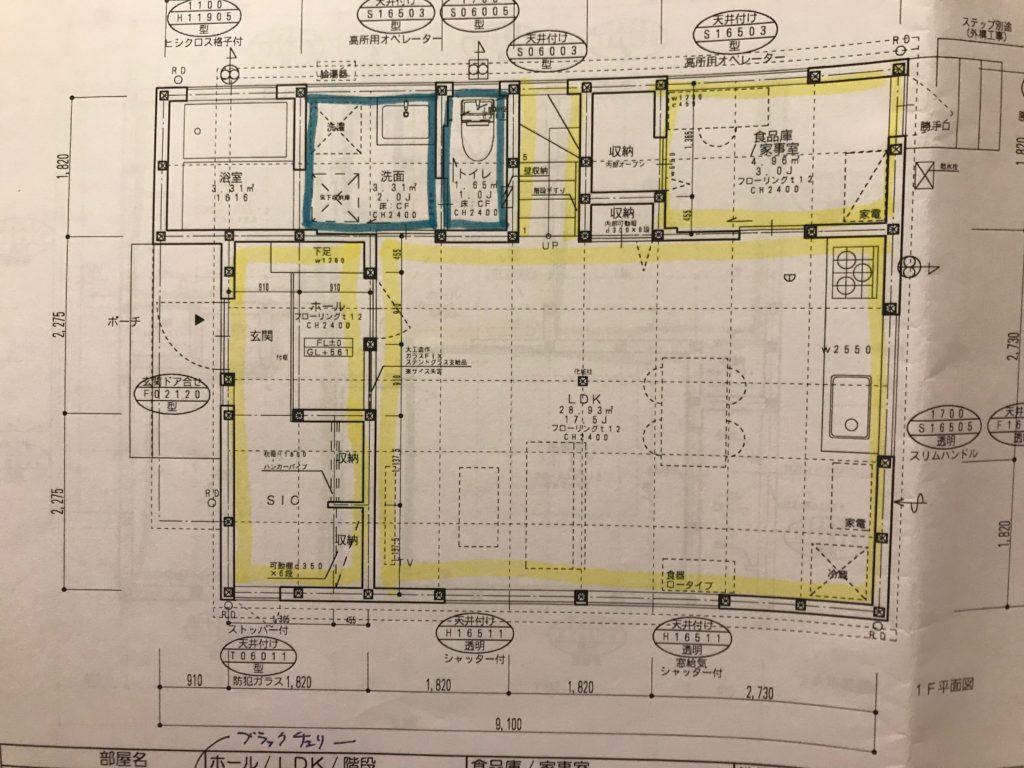 一戸建て住宅の図面