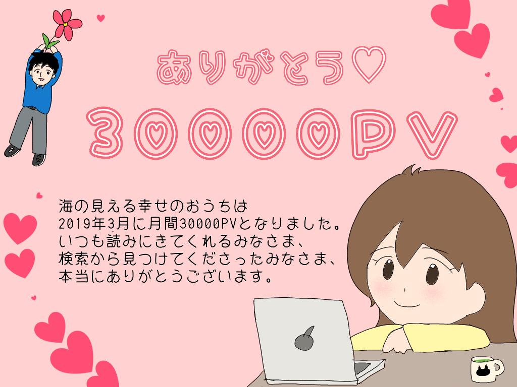 ブログ30000PV