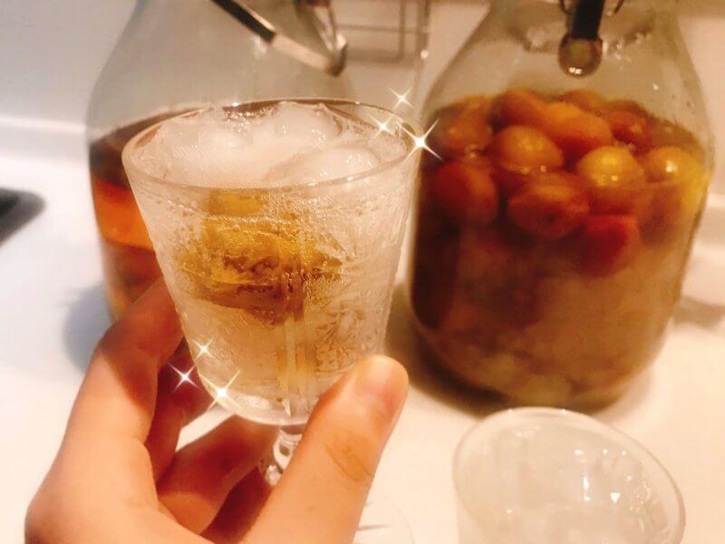 自家製の梅酒と梅ジュース