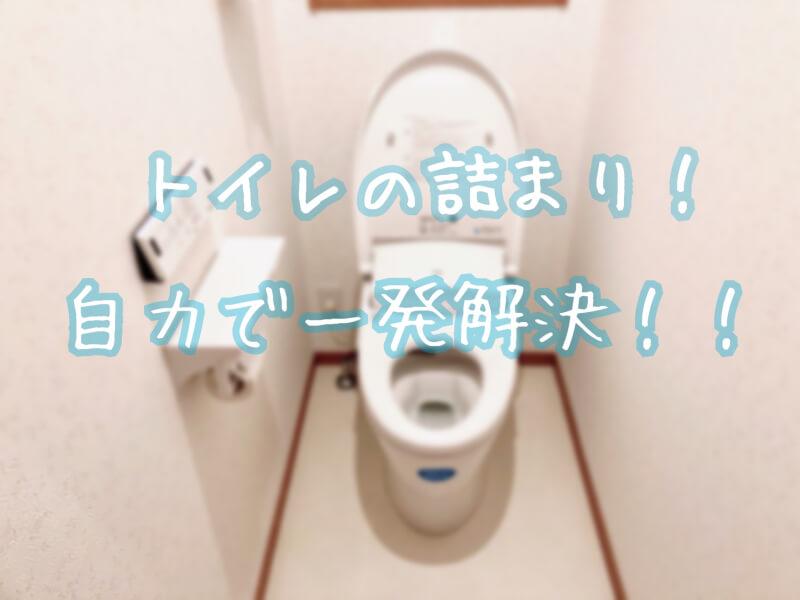 トイレのつまりを直す